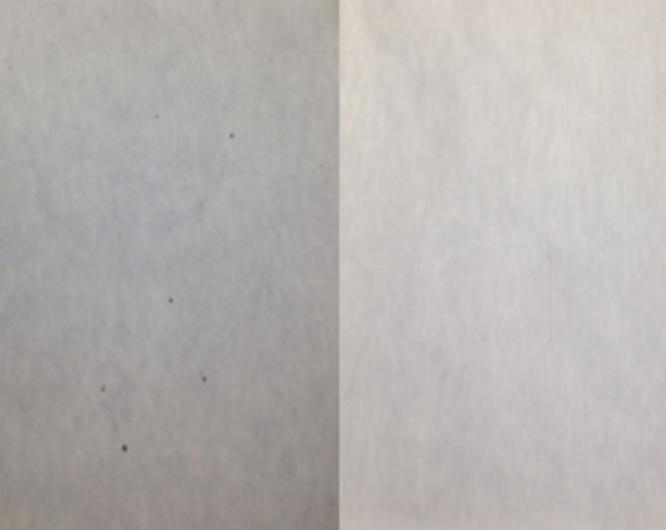Comparativa antes y después del sangrado